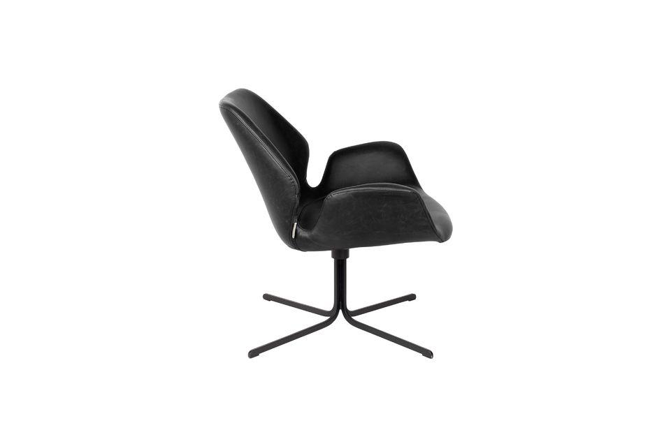 Chaise lounge Nikki noire - 7