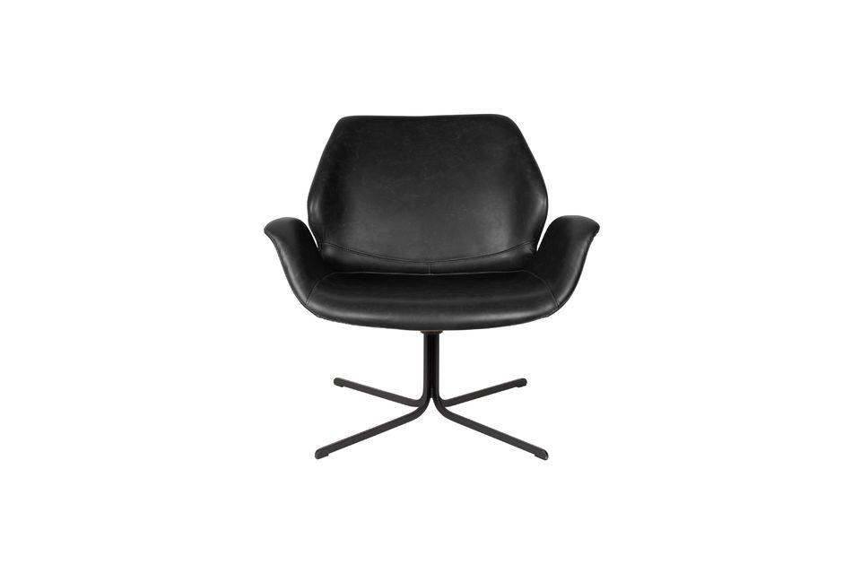 Chaise lounge Nikki noire - 8
