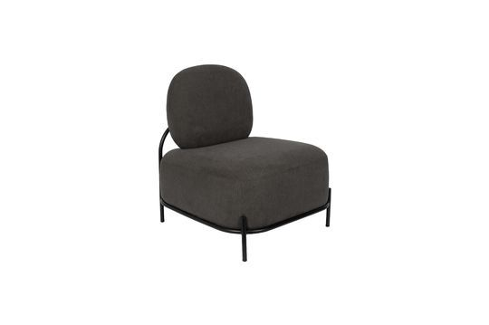 Chaise lounge Polly grise