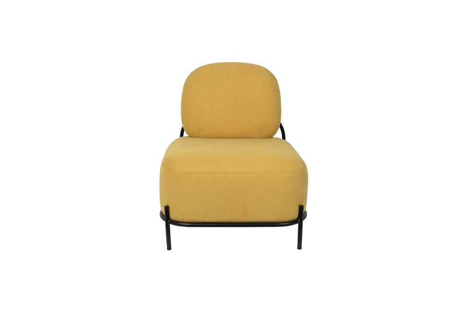 Chaise lounge Polly jaune - 7