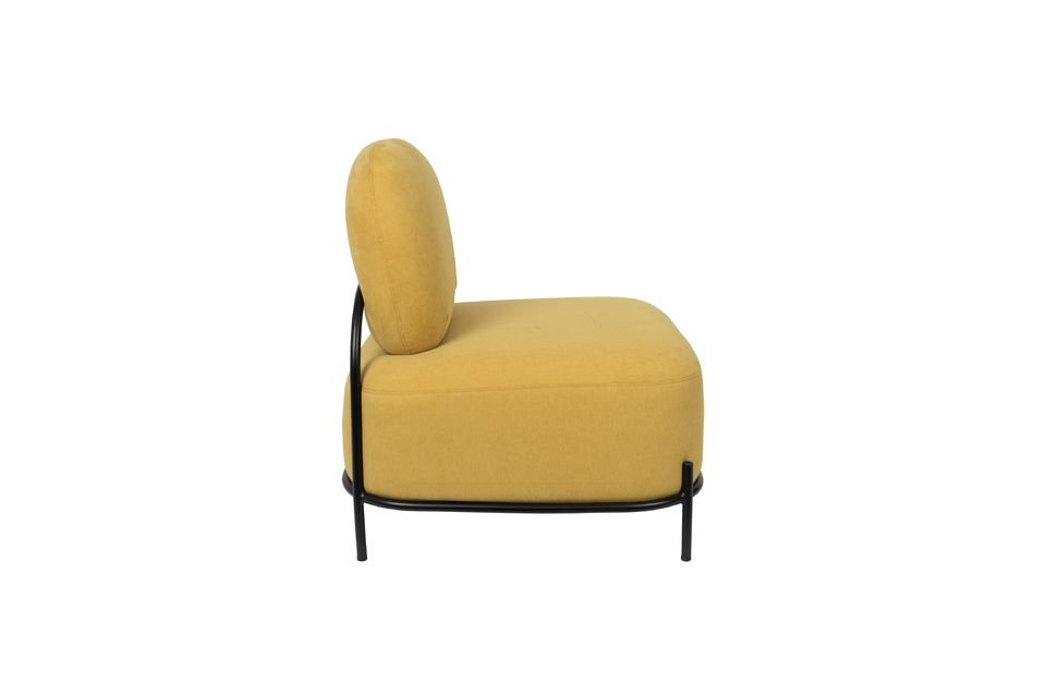 Chaise lounge Polly jaune - 8