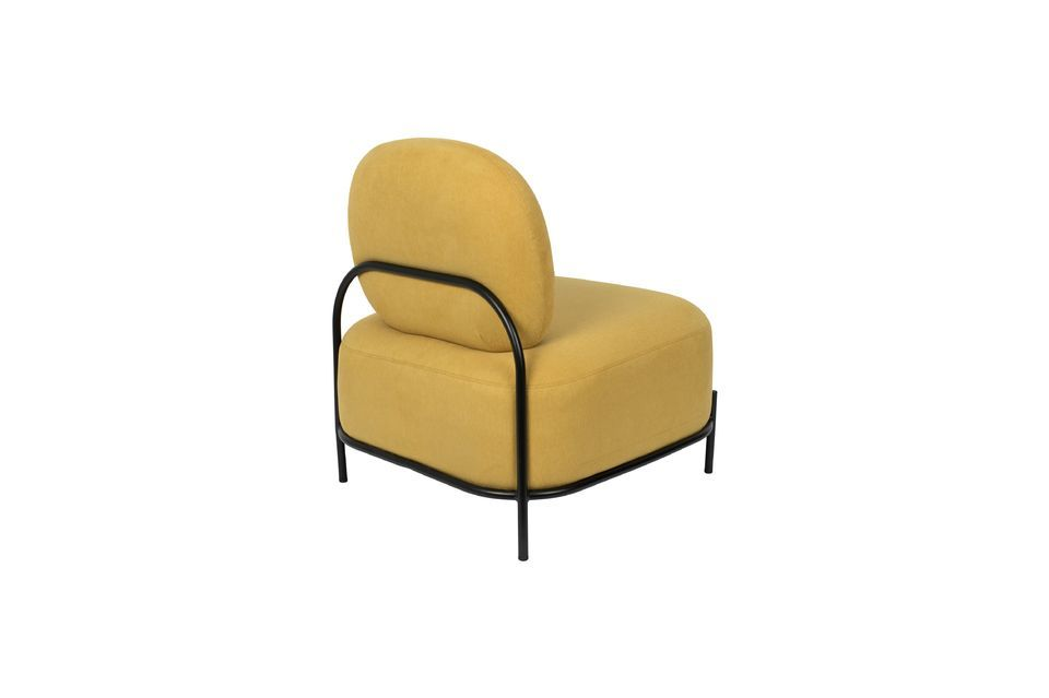 Chaise lounge Polly jaune - 9