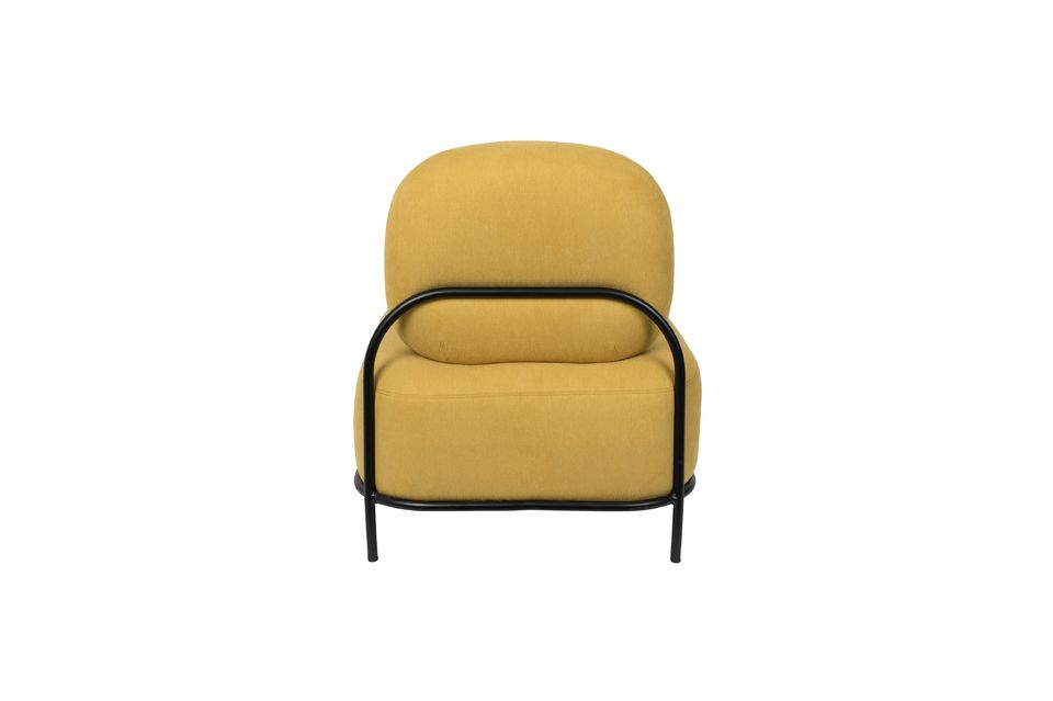 Chaise lounge Polly jaune - 10