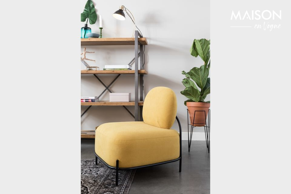 Chaise lounge Polly jaune