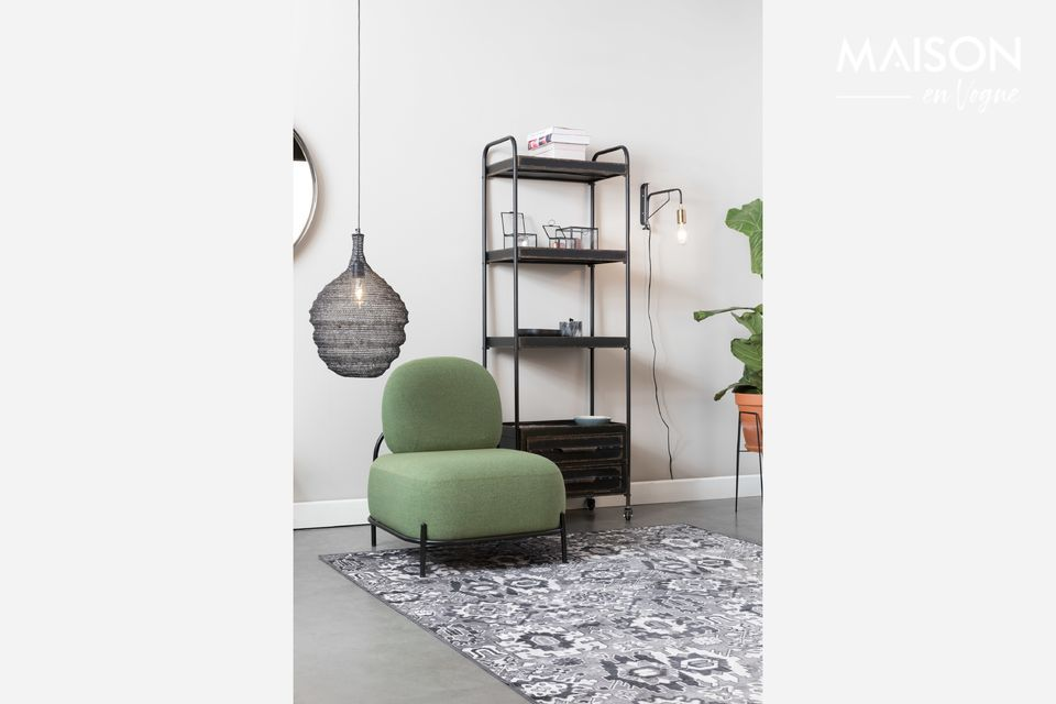 Chaise lounge Polly verte