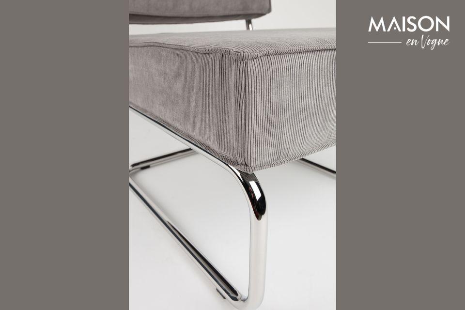 C\'est une chaise, car sa structure métallique est légère et apparente