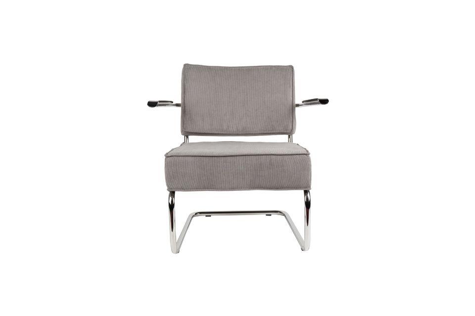 Chaise lounge Ridge Rib à accoudoirs couleur gris froid - 9