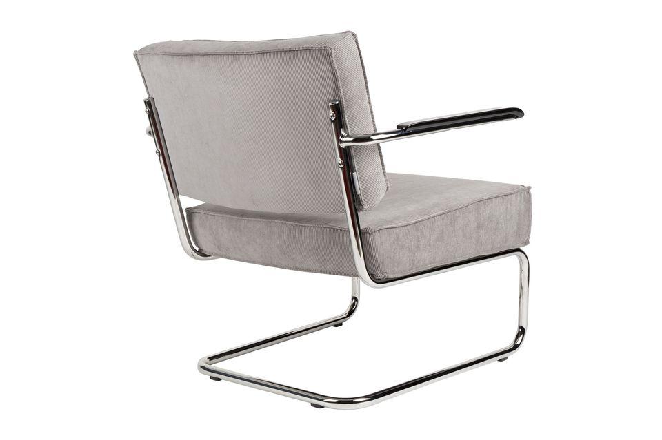 Chaise lounge Ridge Rib à accoudoirs couleur gris froid - 10