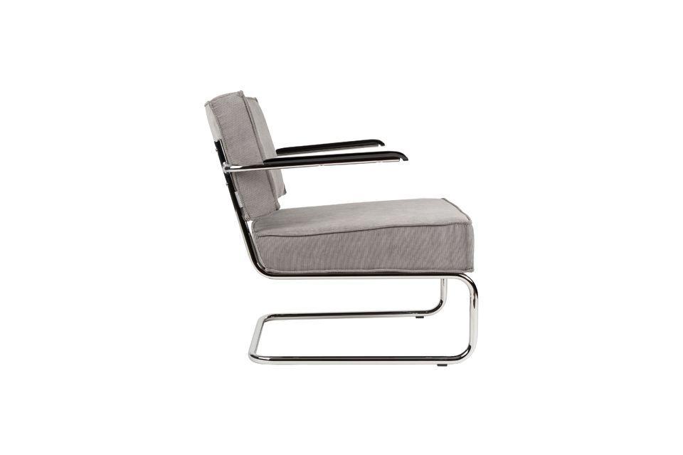 Chaise lounge Ridge Rib à accoudoirs couleur gris froid - 11
