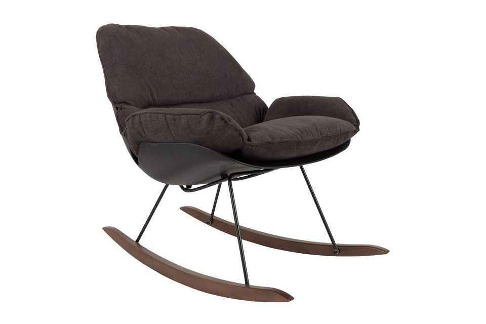 Chaise lounge Rocky foncée - 5
