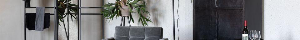 Mise en avant matière Chaise lounge vintage Sir William grise