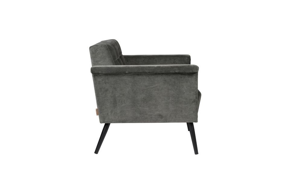 Chaise lounge vintage Sir William grise - 9