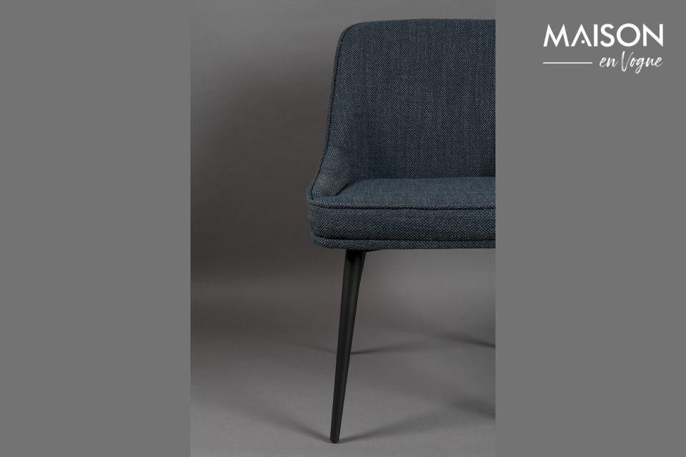 Chaise Magnus en tissu bleu - 6