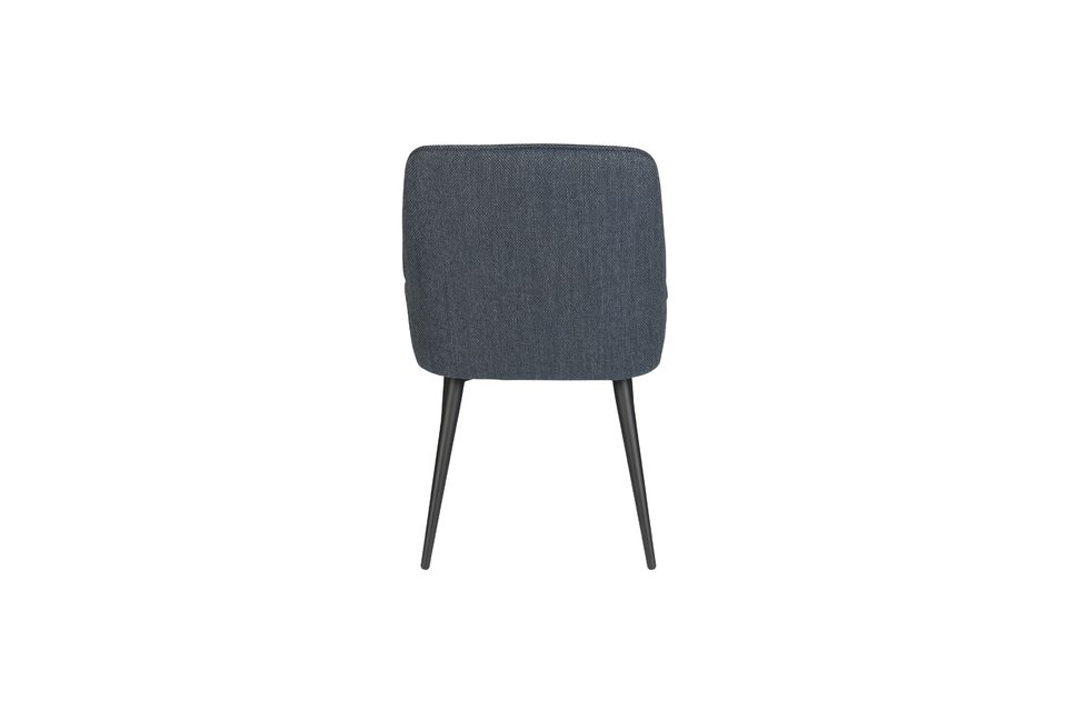 Chaise Magnus en tissu bleu - 8