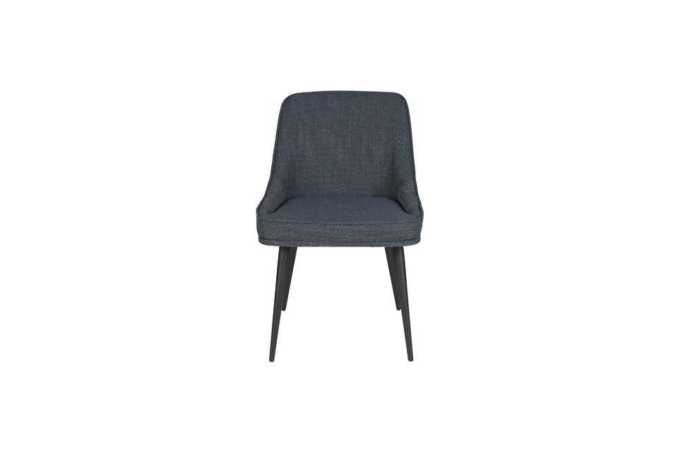 Chaise Magnus en tissu bleu - 11