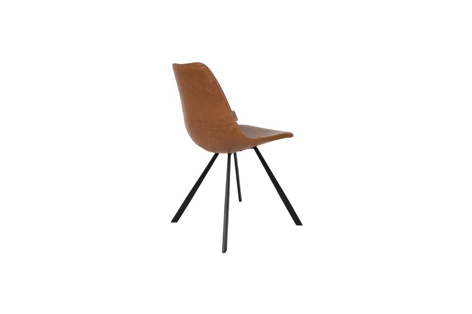 Chaise marron Franky - 9