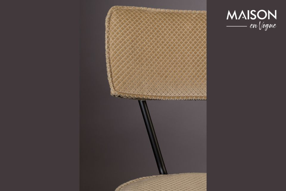 Chaise Melonie coloris sable - 6