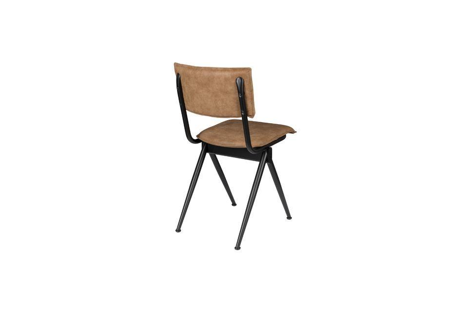 Chaise New Willow Mocha en croûte de cuir - 6