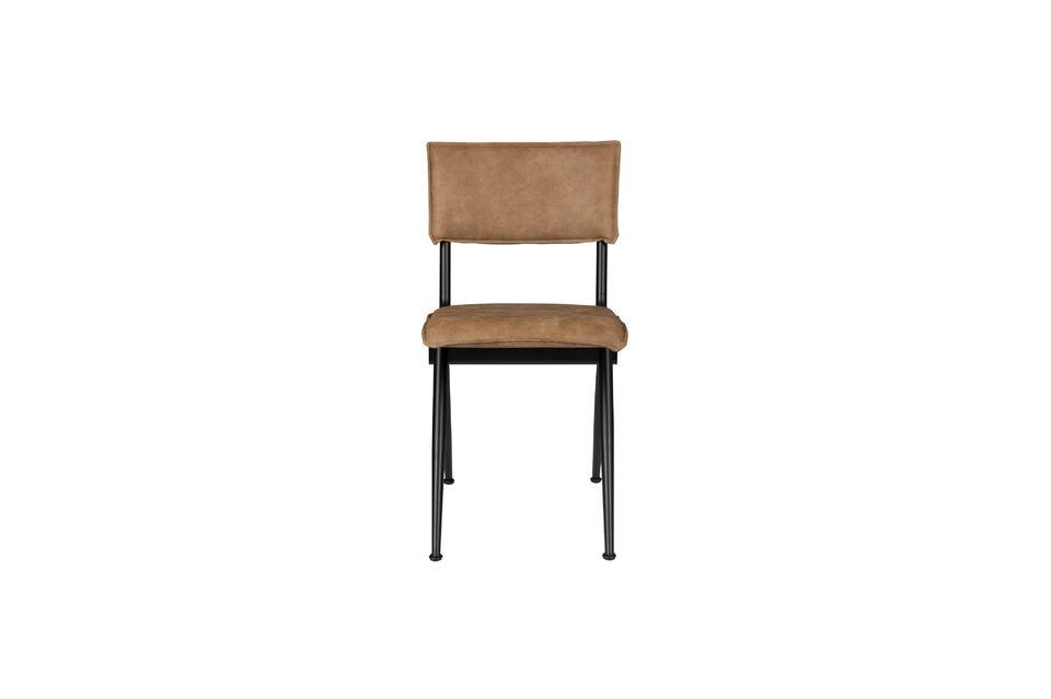 Chaise New Willow Mocha en croûte de cuir - 8
