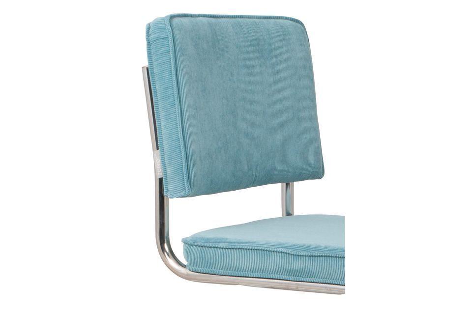 Chaise Ridge Rib Bleue - 5