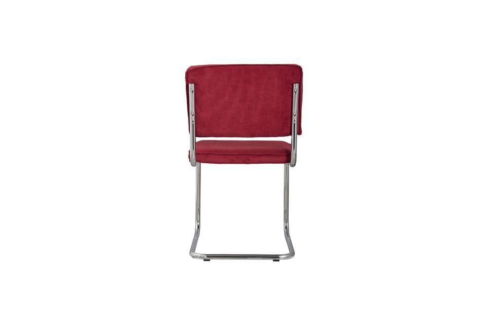 Chaise Ridge Rib Rouge - 6