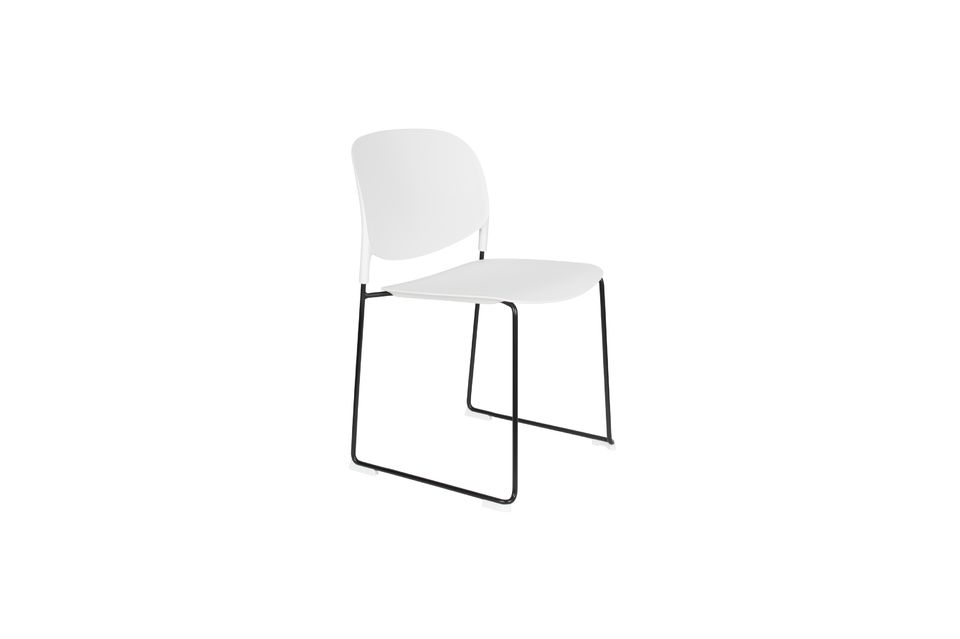 Chaise Stacks Blanche