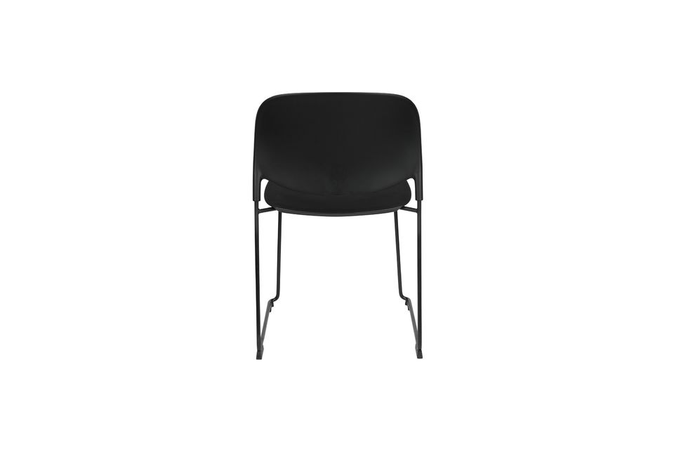 Chaise Stacks noire - 11