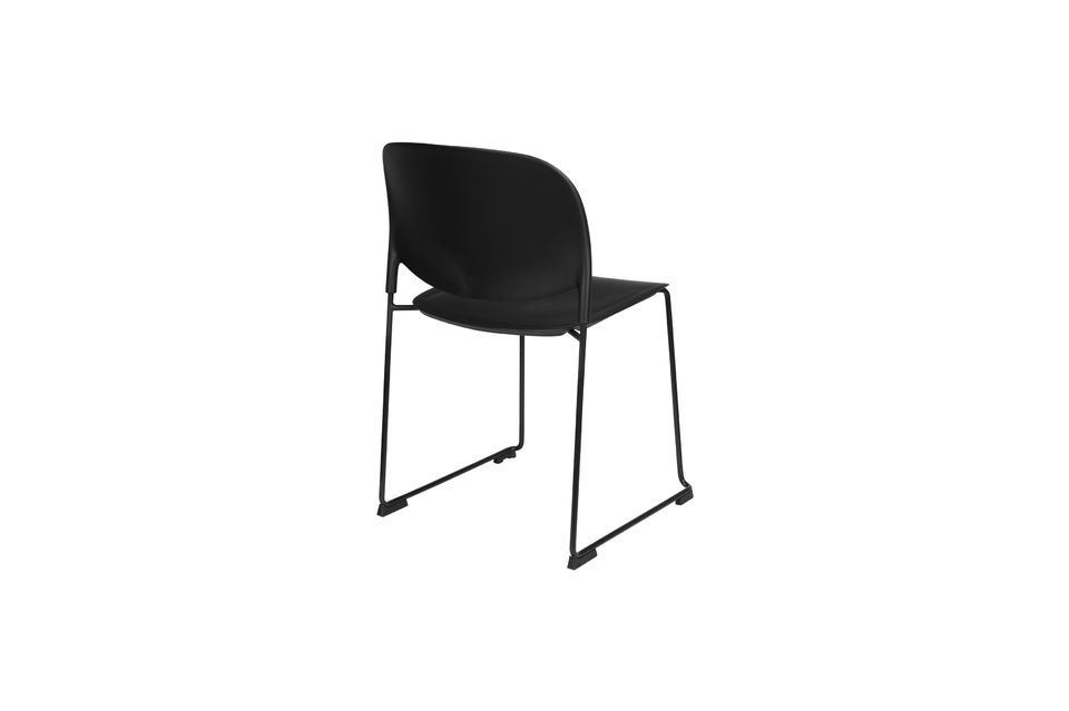Chaise Stacks noire - 12