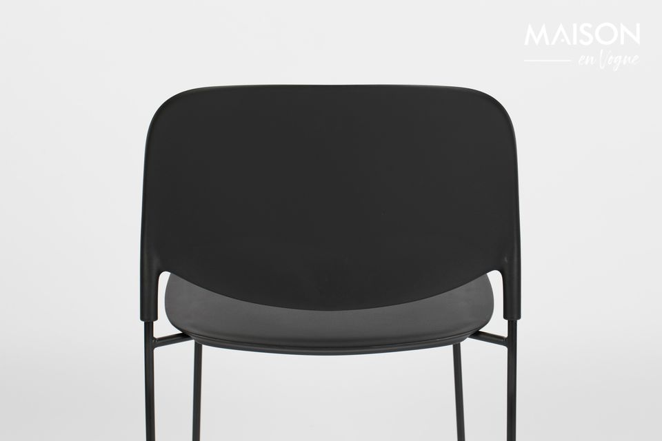 Chaise Stacks noire - 9