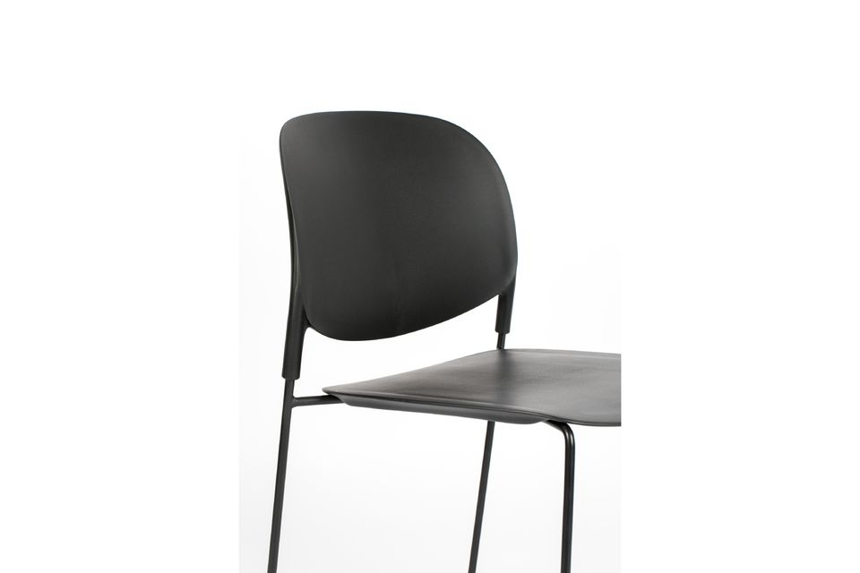 Chaise Stacks noire - 10