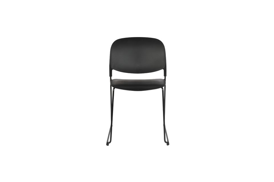 Chaise Stacks noire - 14