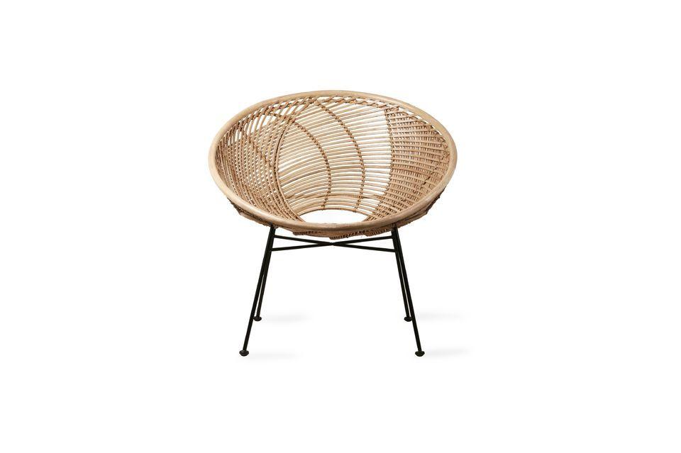 Avec son design tout en rondeur, cette pièce donne envie de s\'y installer confortablement
