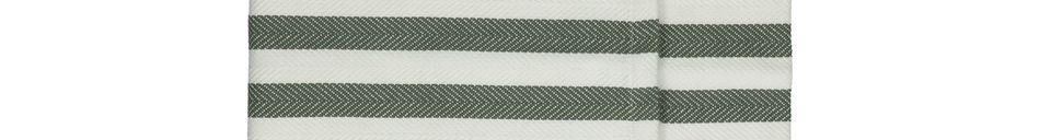Mise en avant matière Chemins de table verts Tizia en coton