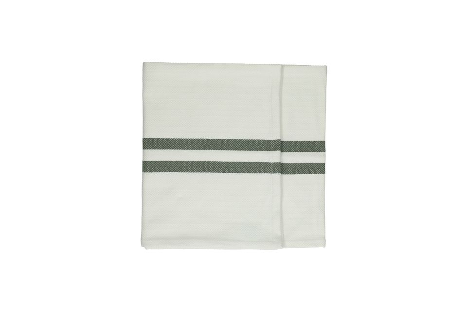 Chemins de table verts Tizia en coton Pomax