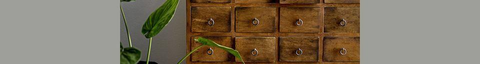 Mise en avant matière Commode Roilly Bois recyclé Brun