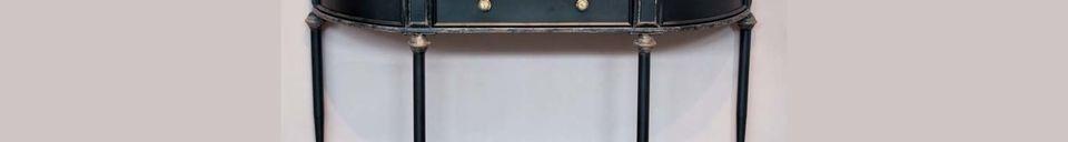 Mise en avant matière Console noire 2 niveaux et tiroir Edouard
