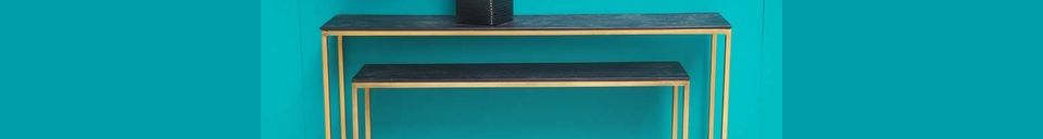 Mise en avant matière Consoles gigognes Flaux en bois et métal