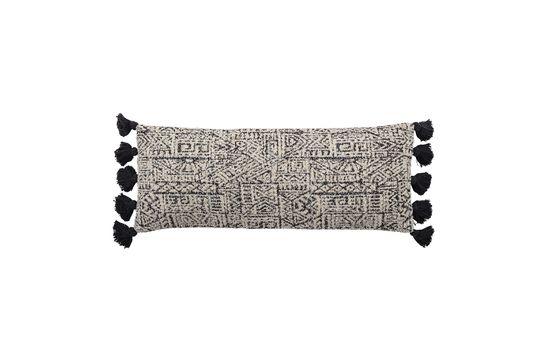 Coussin Bellange noir et blanc en coton Détouré