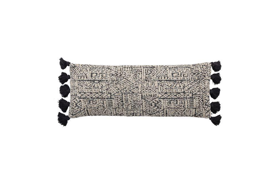 Coussin Bellange noir et blanc en coton