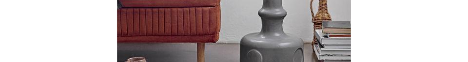 Mise en avant matière Coussin Bellange noir et blanc en coton