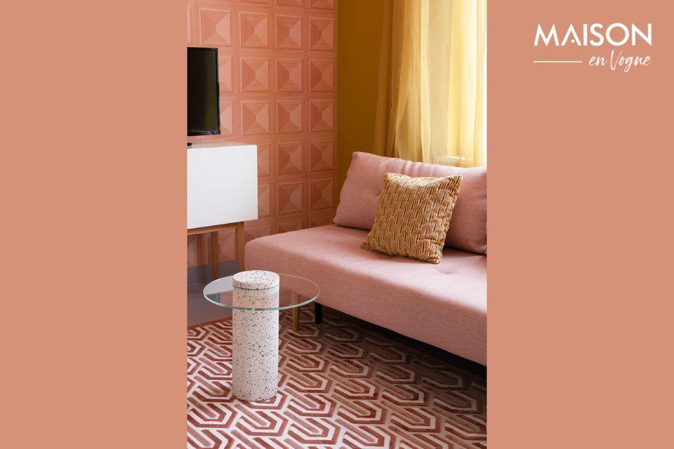 Un coussin confortable au design contemporain