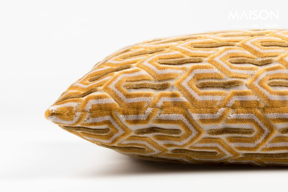 Coussin Beverly Jaune - 4
