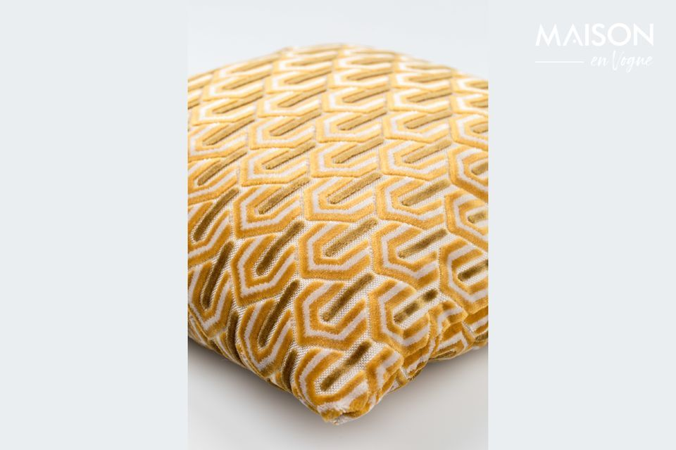 Coussin Beverly Jaune - 5