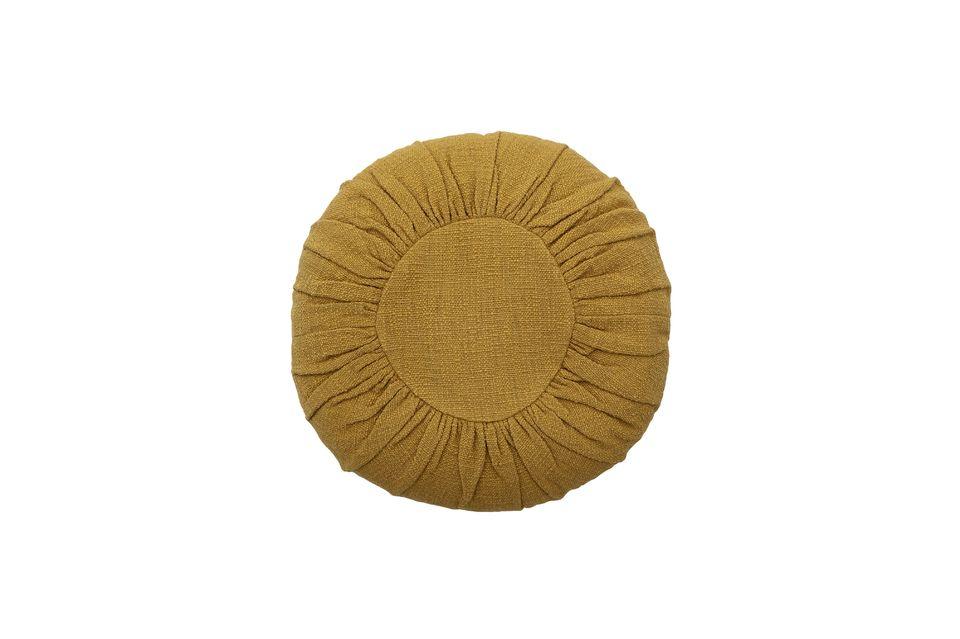 Coussin Bournos jaune en coton Bloomingville