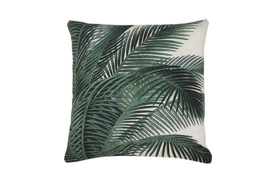 Coussin Bourth à imprimé feuilles de palmier Détouré