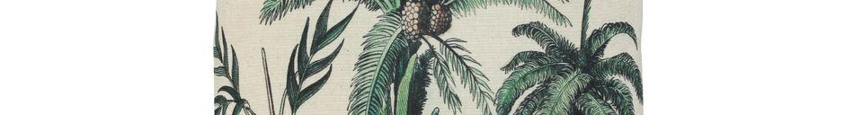 Mise en avant matière Coussin Dosnon à imprimé palmiers