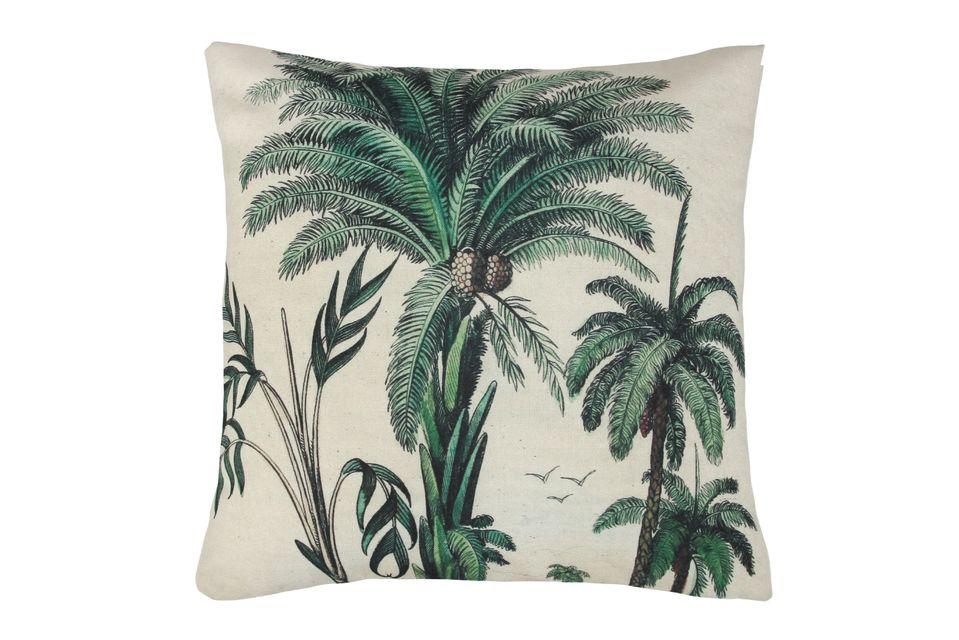Coussin Dosnon à imprimé palmiers HK Living