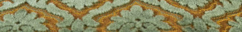 Mise en avant matière Coussin Glory Vieux Vert