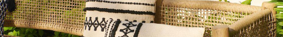 Mise en avant matière Coussin Marrakech en coton