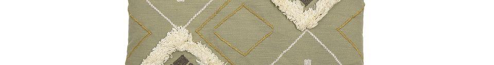 Mise en avant matière Coussin Mazzola en coton multicolore